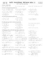 Bài tập bất phương trình bậc 2 pptx
