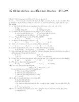Đề thi thử đại học , cao đẳng môn Hóa học – Đề số 09 ppsx