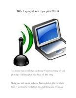 Biến Laptop thành trạm phát Wi-Fi docx