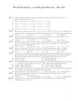 Đề thi thử đại học , cao đẳng môn Hóa học – Đề số 06 pdf