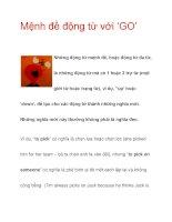 Mệnh đề động từ với 'GO' potx