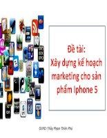 xây dựng kế hoạch marketing cho sản phẩm iphone 5