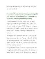 Người tiêu dùng không cảm thấy khó chịu với quảng cáo trên Facebook ppsx