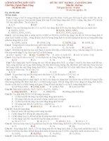 Đáp An Đề thi Thử ( lần 2)