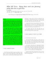 Hầm Hồ Treo - Dạng thức mới của phương pháp đào đá cơ giới hóa pptx