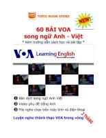 60 bài VOA song ngữ Anh Việt ( kèm hướng dẫn cách học và bài tập)