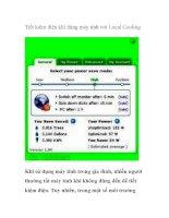 Tiết kiệm điện khi dùng máy tính với Local Cooling pdf
