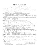 Vật Lí 6 - Đề 1