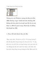 7 thủ thuật cho Recycle Bin pptx