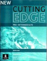 new cutting edge pre-intermediate workbook (with key)