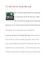 10 mẹo học từ vựng hiệu quả potx
