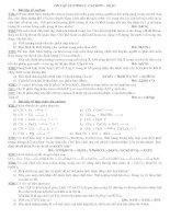 bài tập chương 3 lớp 11