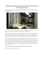 Những hình dạng phòng ngủ cần tránh khi mua nhà hoặc xây nhà pptx
