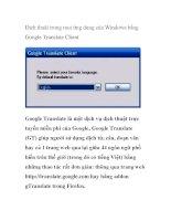 Dịch thuật trong mọi ứng dụng của Windows bằng Google Translate Client pdf