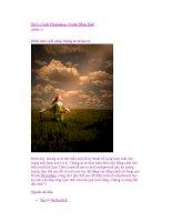 Xử Lý Ảnh Photoshop: Cánh Đồng Quê (phần 1) ppt
