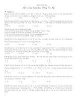 Một số dạng toán Dao động cơ học