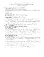 Đề và đáp án chi tiết khối D môn Toán