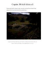 Copán: Di tích khảo cổ pptx