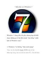 7 điều thú vị về Windows 7 pps