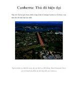 Canberra: Thủ đô hiện đại ppsx