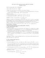 Đề và đáp án chi tiết khối B môn Toán