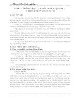 SKKN -Kinh nghiem day mot tiet luyen tap Toan o THCS
