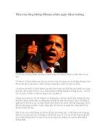 thư của tổng thống Obama nhân ngày khai trường