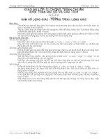 Chọn bộ giáo án đại số và giải tích 11 - Cơ bản