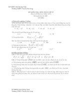 Ôn tập môn Toán : Tự luận và Trắc nghiệm part 1 pptx
