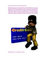 Bảo vệ quyền riêng tư: tránh identity theft pptx