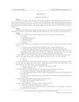 Đề thi môn thanh toán quốc tế - Đề số 1 ppsx