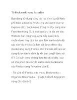 Từ Bookmarks sang Favorites docx