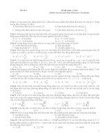 Đề thi Vật lí (Dành cho thí sinh Ban Khoa học Tự nhiên) Đề số 3 docx