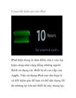 8 mẹo tiết kiệm pin cho iPad ppsx