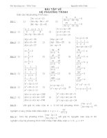 Bài tập về: Hệ phương trình ppsx