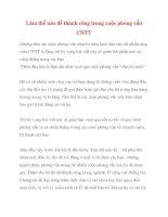 Làm thế nào để thành công trong cuộc phỏng vấn CNTT docx