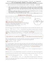 Xuân giải đề thi ĐH Vật lý 2010 (câu 14 - 40)