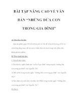 """BÀI TẬP NÂNG CAO VỀ VĂN BẢN """"NHỮNG ĐỨA CON TRONG GIA ĐÌNH"""" pps"""