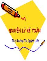 Bài giảng: Nguyên lý kế toán chương 1, 2,3 ppt