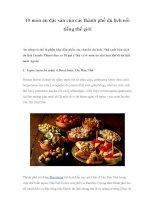 10 món ăn đặc sản của các thành phố du lịch nổi tiếng thế giới pot