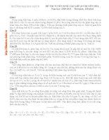Đề TS lớp 10 chuyên Hóa ĐH KHTN 10-11