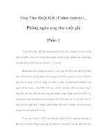 Ung Thư Ruột Già (Colon cancer) _ Phòng ngừa ung thư ruột già - Phần 2 pdf