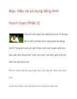 Đọc, hiểu và sử dụng tiếng Anh thành thạo pptx