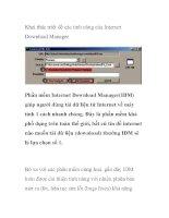Khai thác triệt để các tính năng của Internet Download Manager docx