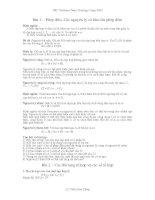 CHUYÊN ĐỀ TỔNG HỢP NHỊ THỨC NIU TƠN XÁC SUẤT  TỔ HỢP 1