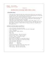 hướng dẫn cách học môn tiếng anh lớp 6