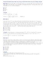 Chuyên đề vật lý hạt nhân hay trong mùa thi thử 2014 của các trường chuyên
