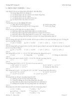 Đề KT 1 tiết số 1 (chương điện li)