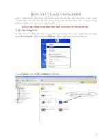 Tài liệu hướng dẫn cài đặt phần mềm quản lí  CB giáo viên giáo dục