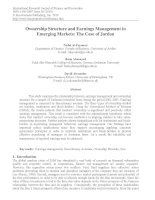ownership structure and earnings management in emerging markets